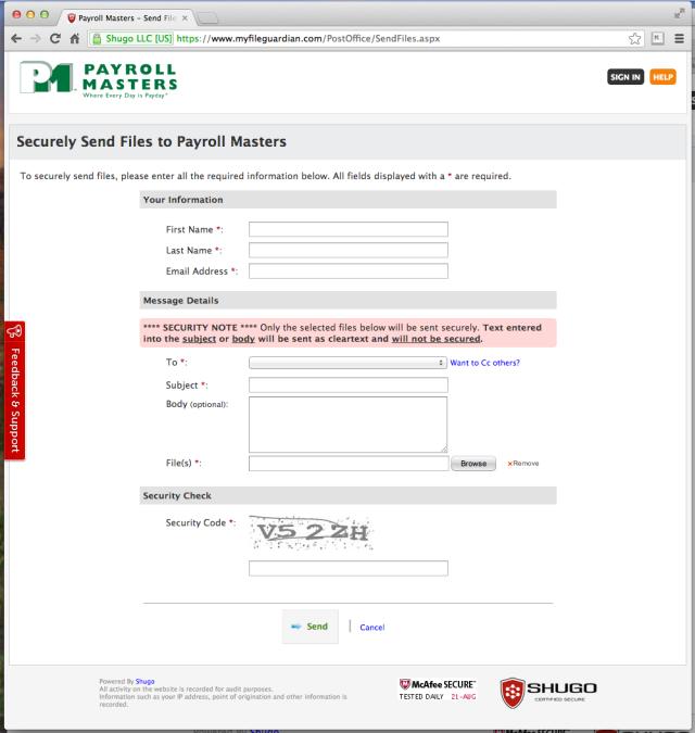 SecurelySendFilesPage